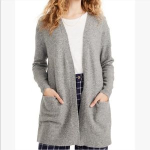 Madewell | Ryder grey cardigan side pockets